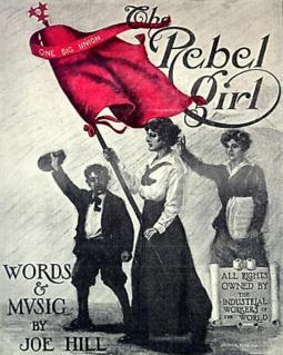 """""""The Rebel Girl"""" sheet music cover"""