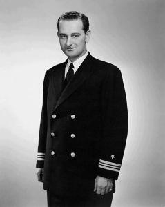Lyndon Johnson in Navy uniform