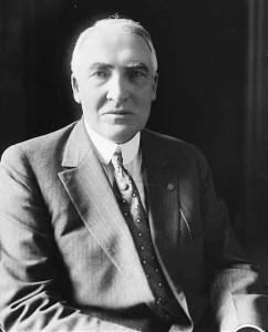 Warren G. Harding sitting portrait