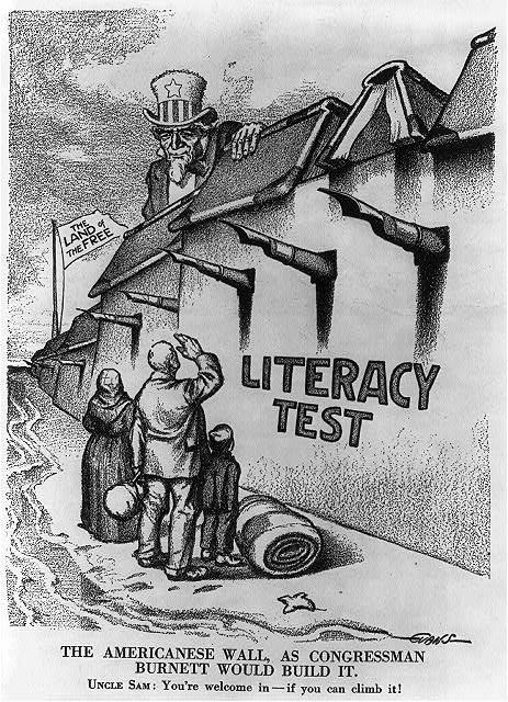 """The Americanese wall - as Congressman [John Lawson] Burnett would build it,"" 1916"