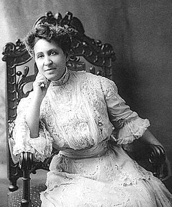 Portrait of Mary Church Terrell as a young woman seated in a chair