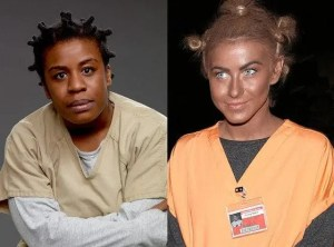 """Susan """"Crazy Eyes"""" Warren on the Left, Julianne Hough on the Right"""