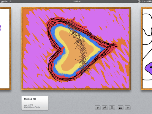 Screenshot of an art project on Brushes for iPad