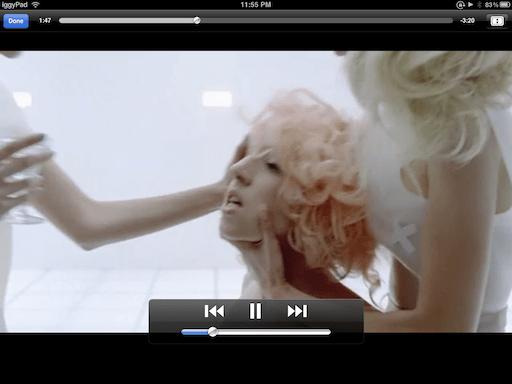 A screenshot of a Lady Gaga music video