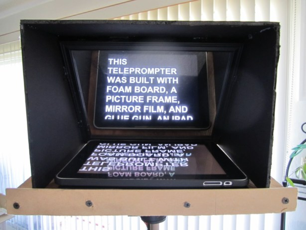 A picture of a teleprompter I made