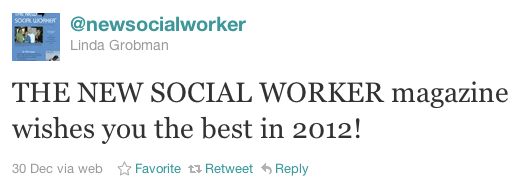 A tweet by @newsocialworker