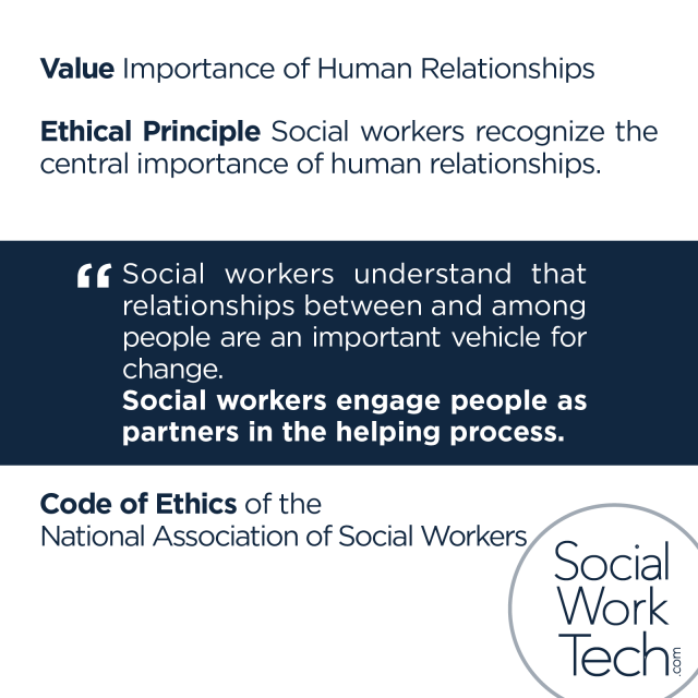 Social Work Code of Ethics: Importance of Human Relationships