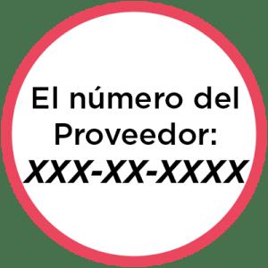 El número del proveeador