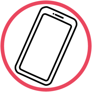 vector of a smart phone