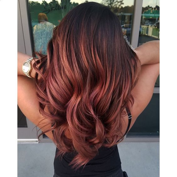 We know our adventurous clients will love this sunset-inspired balayage!