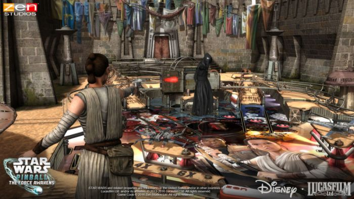 Rey ganha tratamento Vip em Star Wars: The Force Awakens Pinball