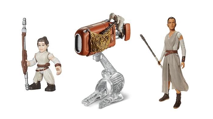 A próxima onda dos brinquedos de Star Wars é focada na Rey