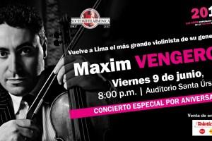 Maxim Vengerov. Concierto Especial por Aniversario
