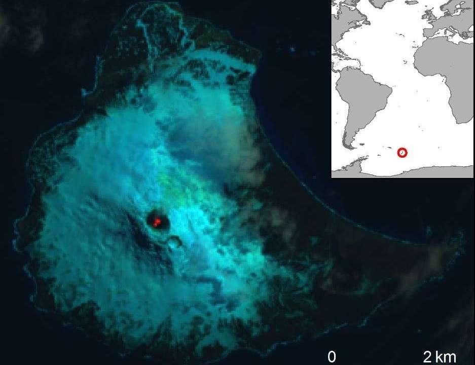 Um lago de lava raro encontrado em uma ilha perto da Antártica