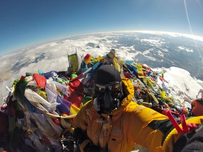 Selfie no Monte Everest destrói a loucura da terra plana?