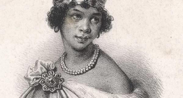Uma ilustração da rainha Nzinga de François Villain, 1800. (Wikimedia Commons)