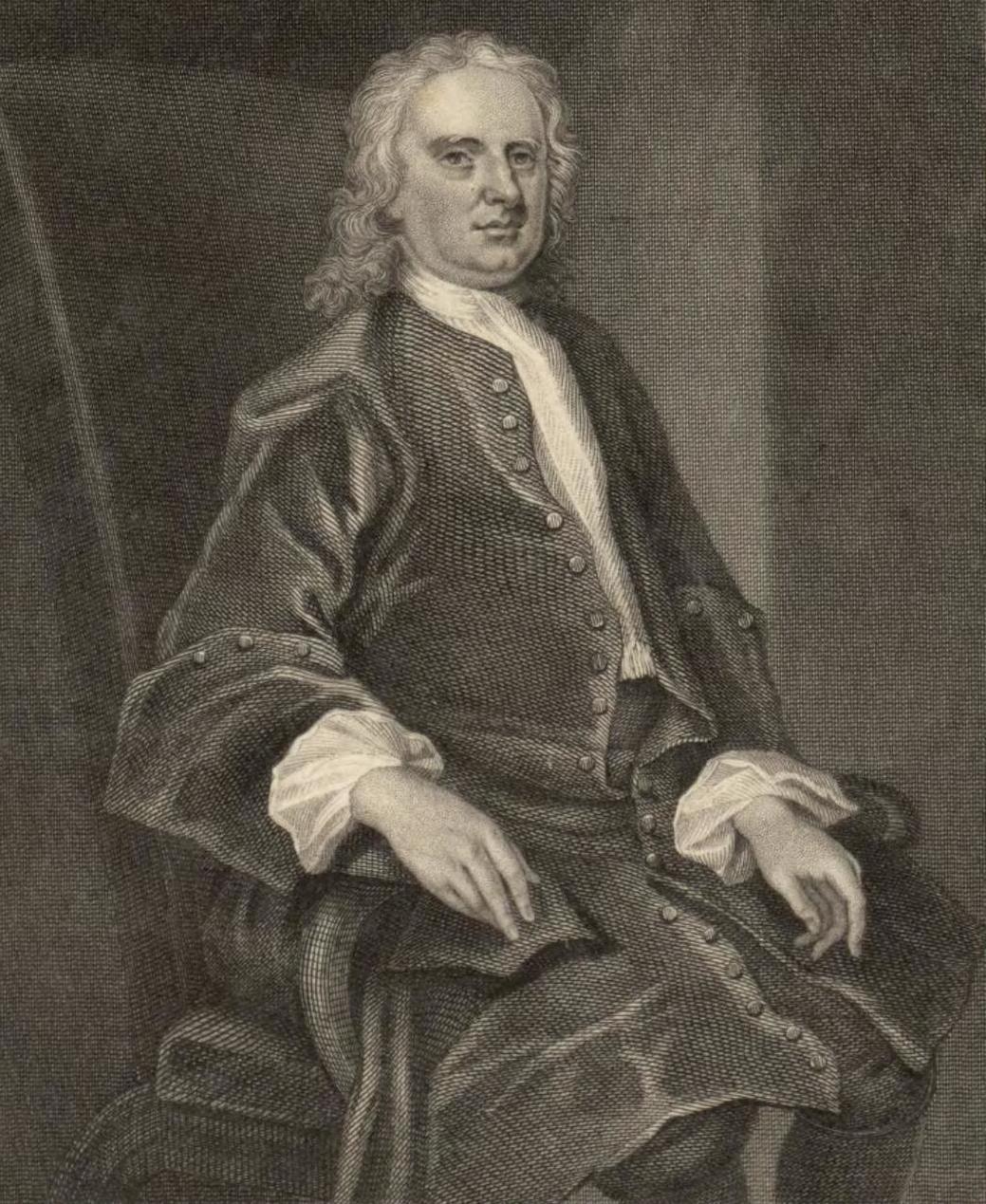 Um retrato de Isaac Newton da coleção de retratos galeses da Biblioteca Nacional do País de Gales.