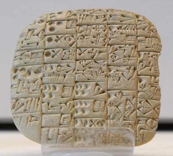 Documento sumério de venda de uma casa