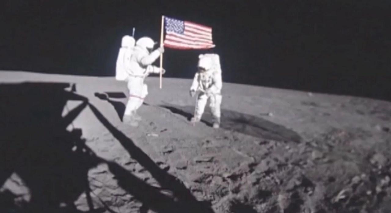 Satélite chinês 'encontra' os locais de pouso dos EUA na Lua
