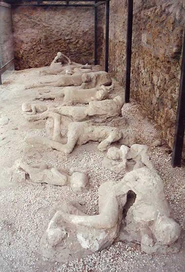 monte vesúvio corpos