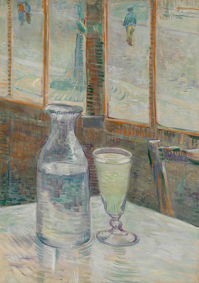 Café Table with Absinthe