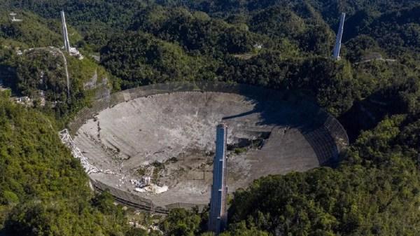 famoso telescópio caiu antes de ser desmanchado