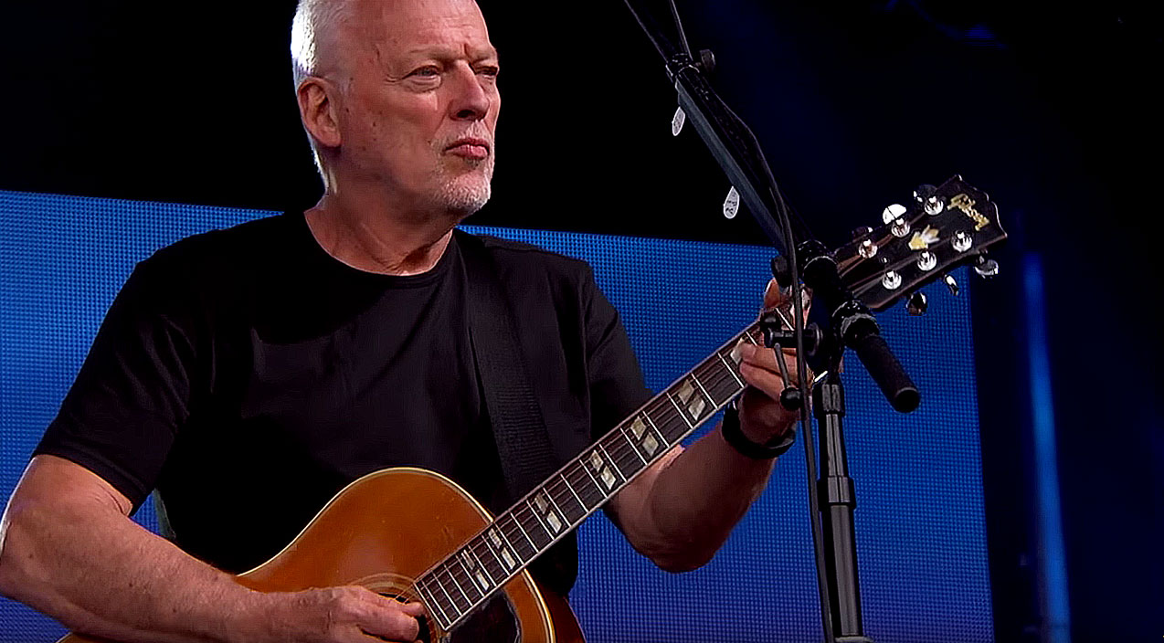 David Gilmour Crashes Late Night TV Dazzles With Acoustic Wish You Were Here Society Of Rock