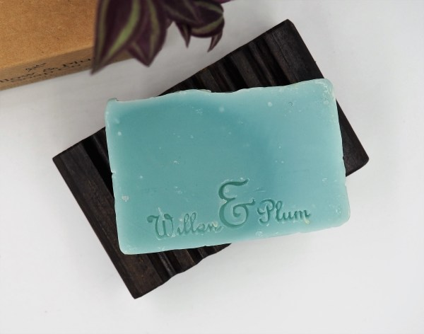 zero waste ethical society zero dark pomegranate scottish vegan natural soap bar