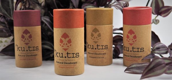 Kutis Orange and patchouli natural deodorant compostable tube kutis deodorants society zero zero waste shop glasgow