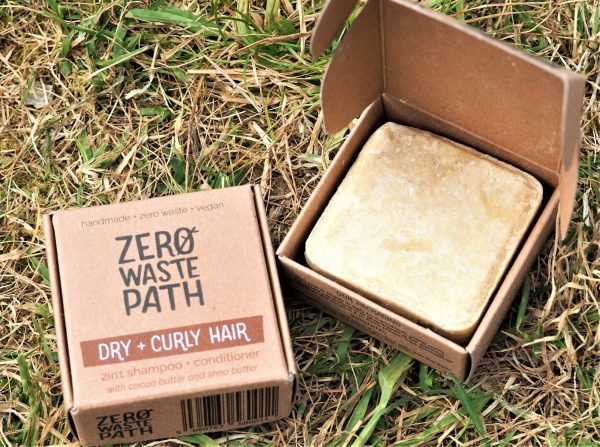 plastic free shampoo and conditioner for dry and curly hair society zero glasgow