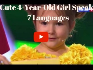 4 year girl speaks 7 languages