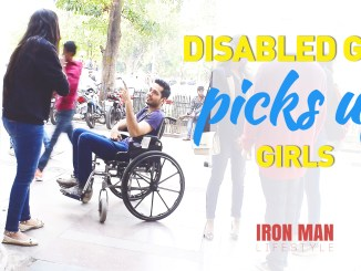 disabed guy picks up girls