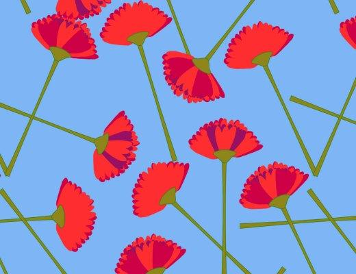 diseño de flores print