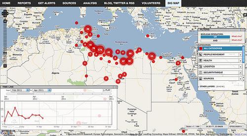 Lybia Crisis Map by Ushahidi