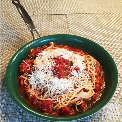 Tomato-Basil Sauce with Fresh Pasta