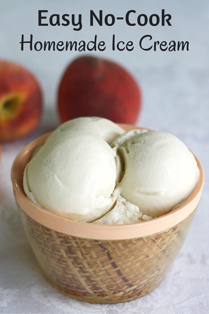 Easy No-Cook Homemade Ice Cream