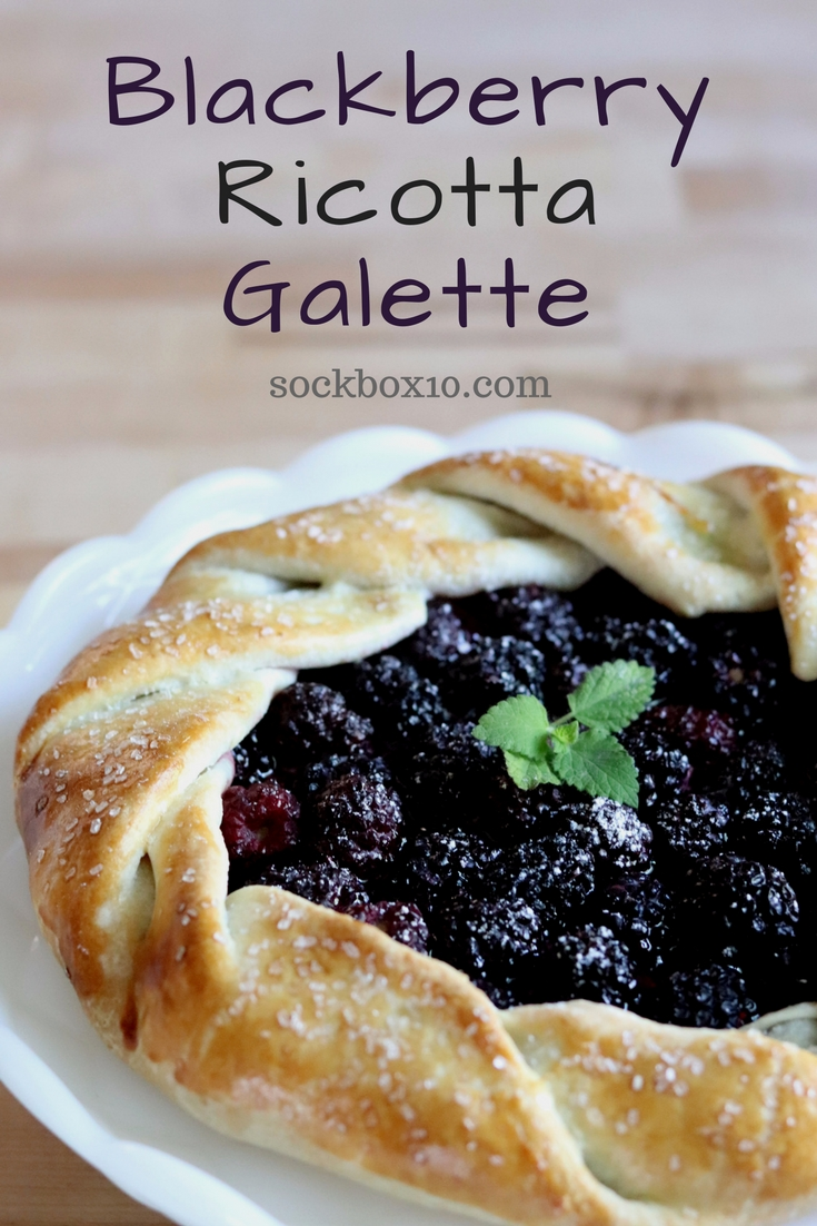 Blackberry Ricotta Galette sockbox10.com