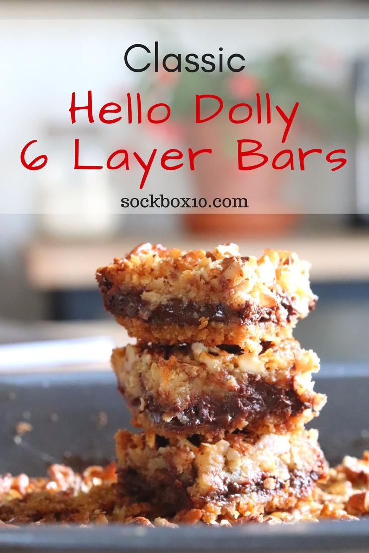 Classic Hello Dolly 6 Layer Bars sockbox10.com