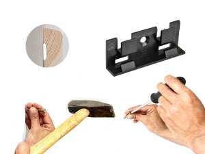 Montage und Befestigung mit Schrauben, Clips und Kleber