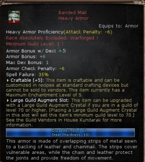Large guild slot armor