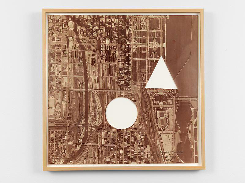 A Square of Chicago Without a Circle and Triangle 1979 Photographic reproduction on paper with areas removed Unframed: 24 x 24 in. (61 x 61 cm) Framed: 25 3/4 x 25 3/4 in. (65.4 x 65.4 cm)