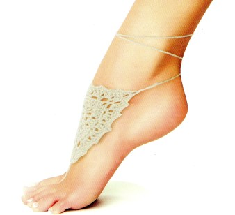 Me Moi Foot Jewelry Shield of Lace