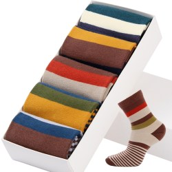 color strip flow men socks