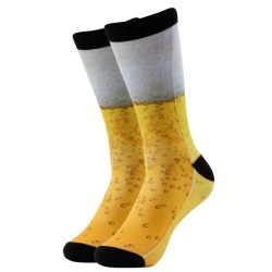 gold beer patter socks