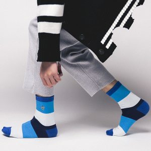 large strip colorful socks