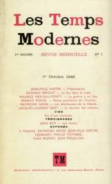 Les Temps Modernes, edited by Jean-Paul Sartre