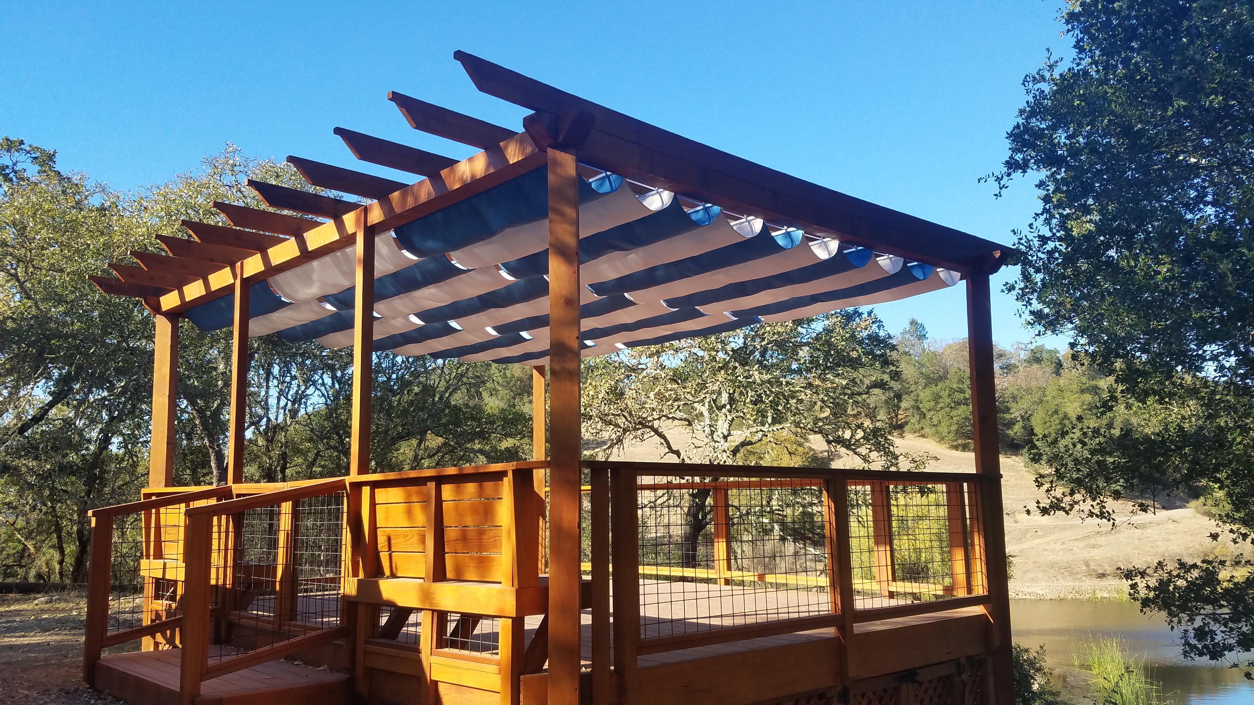 Infinity canopy over a gazebo