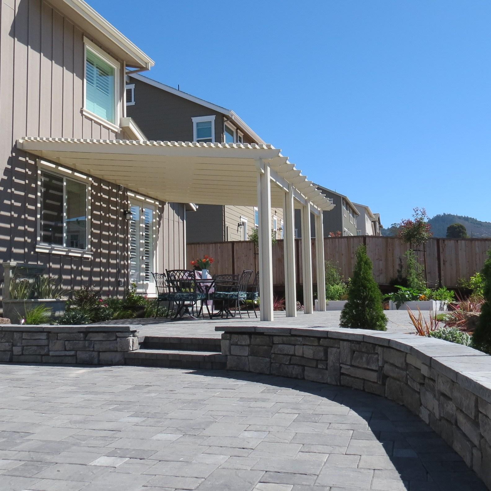 Lattice Roof Patio Cover Pergola