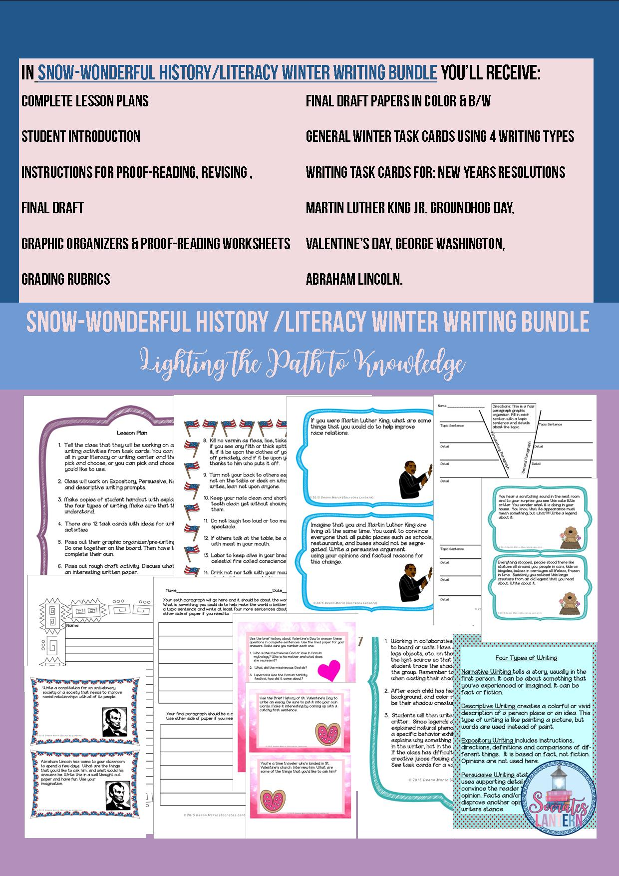 Types Of English Essays Snowonderful Literacyhistory Winter Writing Bundle Essay On English Literature also Illustration Essay Example Papers Snowonderful Literacyhistory Winter Writing Bundle Grades  English Essays Book