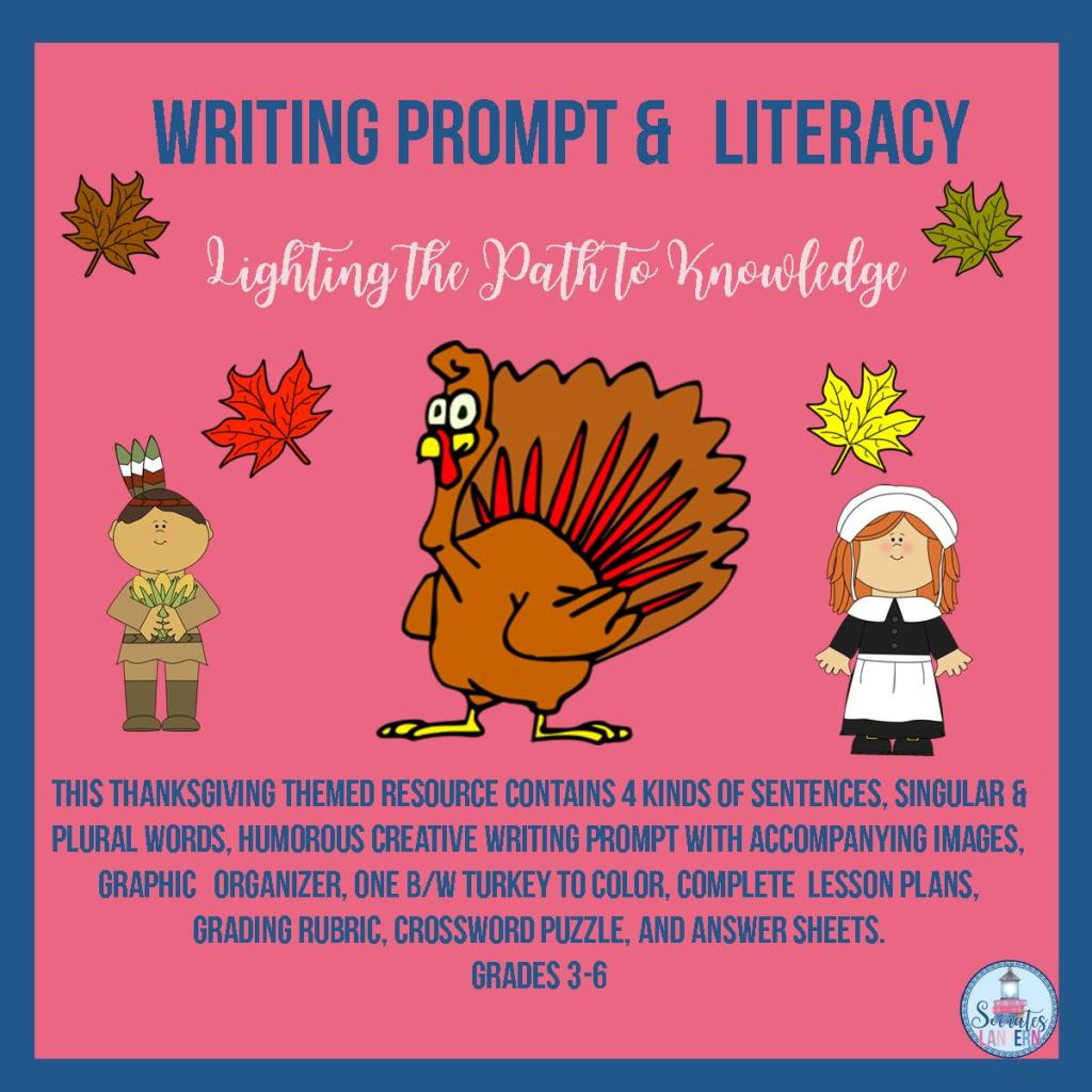 Writing Prompt & Literacy Activities for Thanksgiving